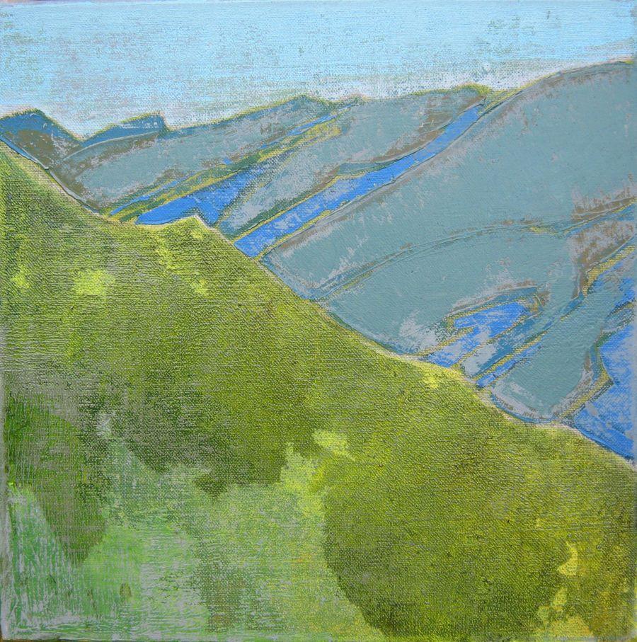 Ardèche, huile sur toile, 30x30
