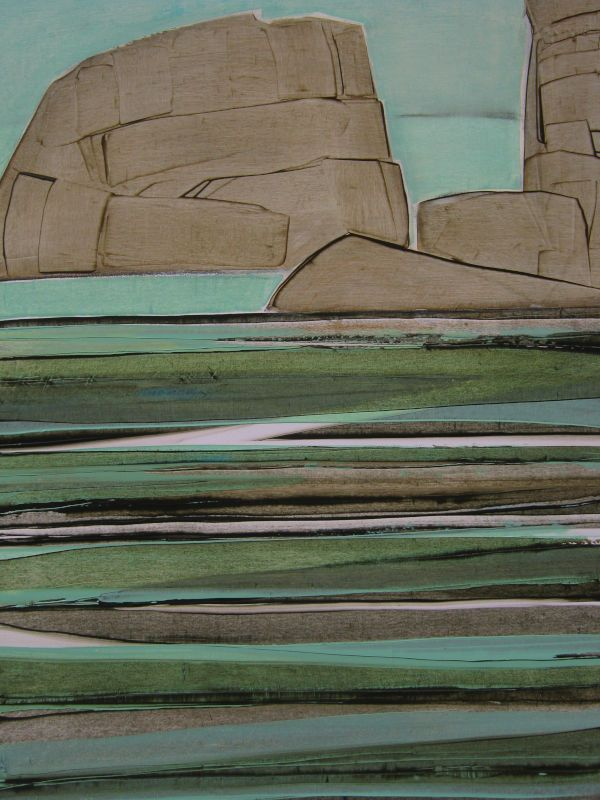 Côte d'Armor, huile sur papier, 70x100