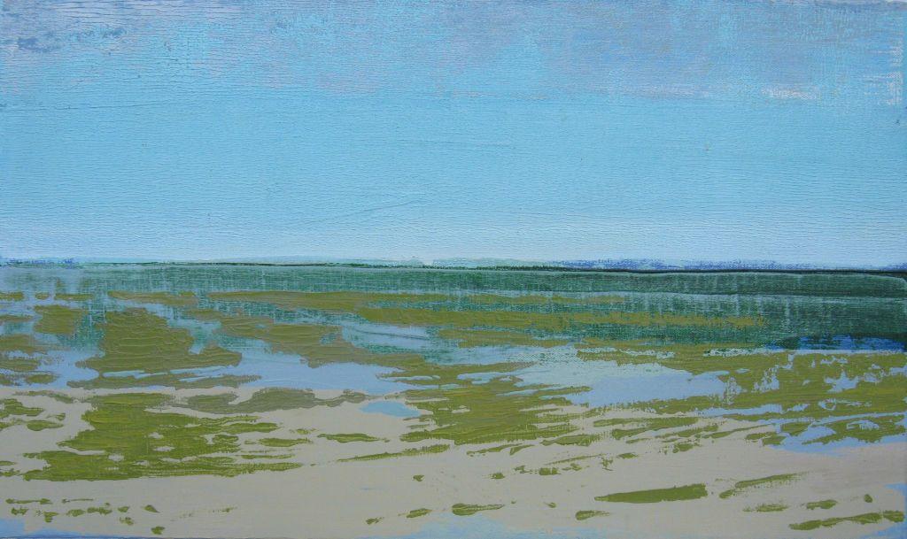 Marée basse II, huile sur toile, 33x55