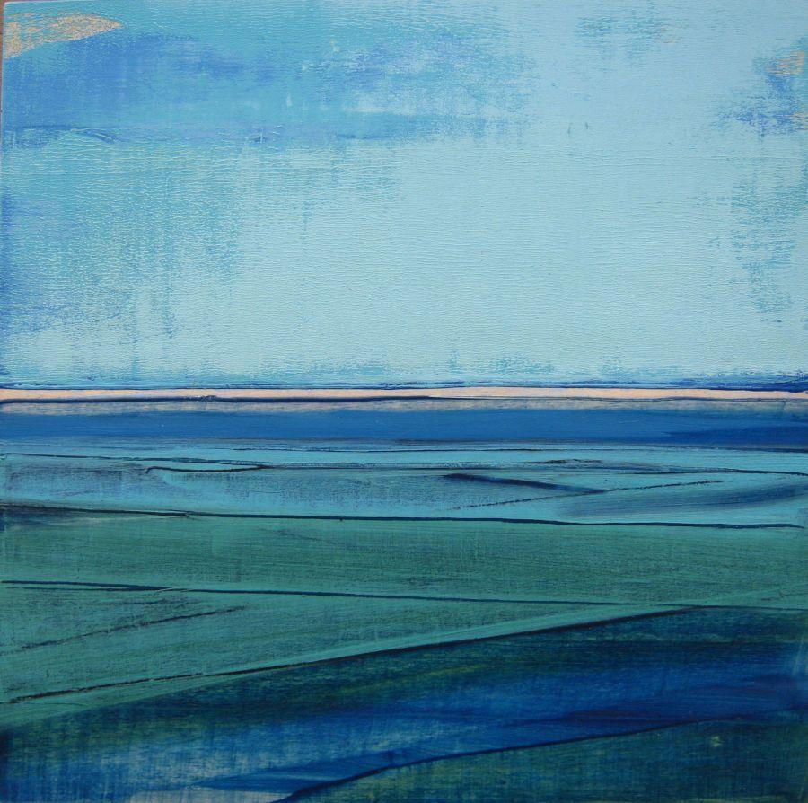 Mer du Nord IV, huile sur toile, 30x30