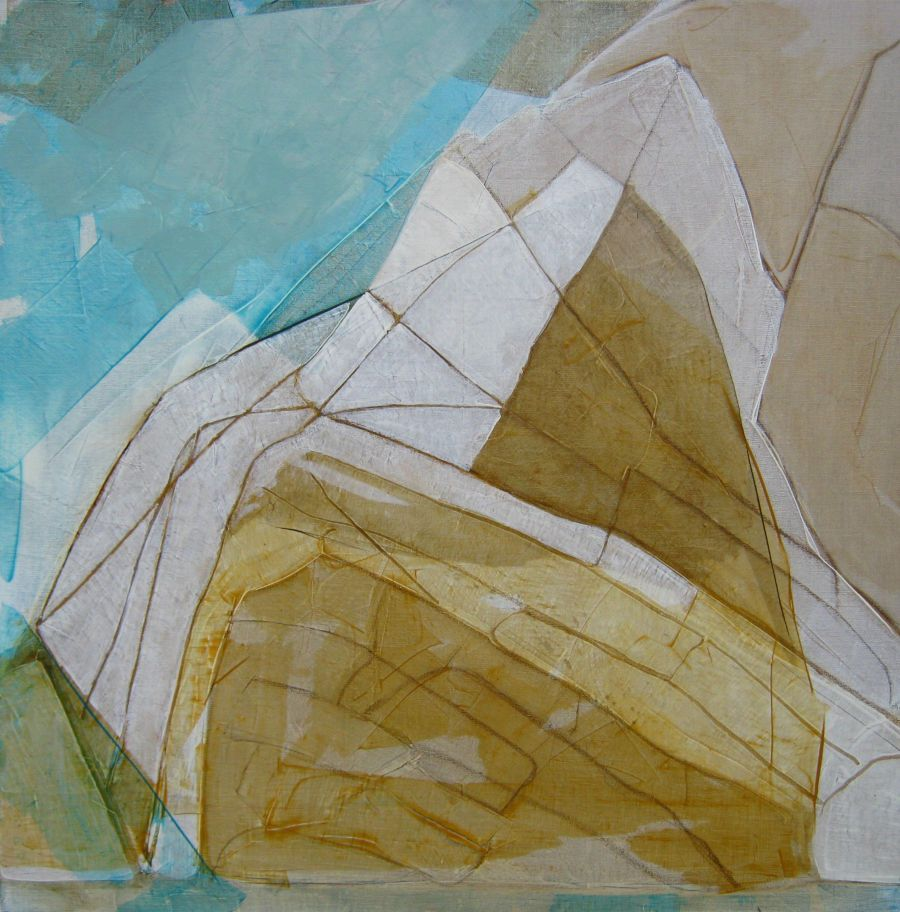 Rochers II, huile sur toile, 80x80