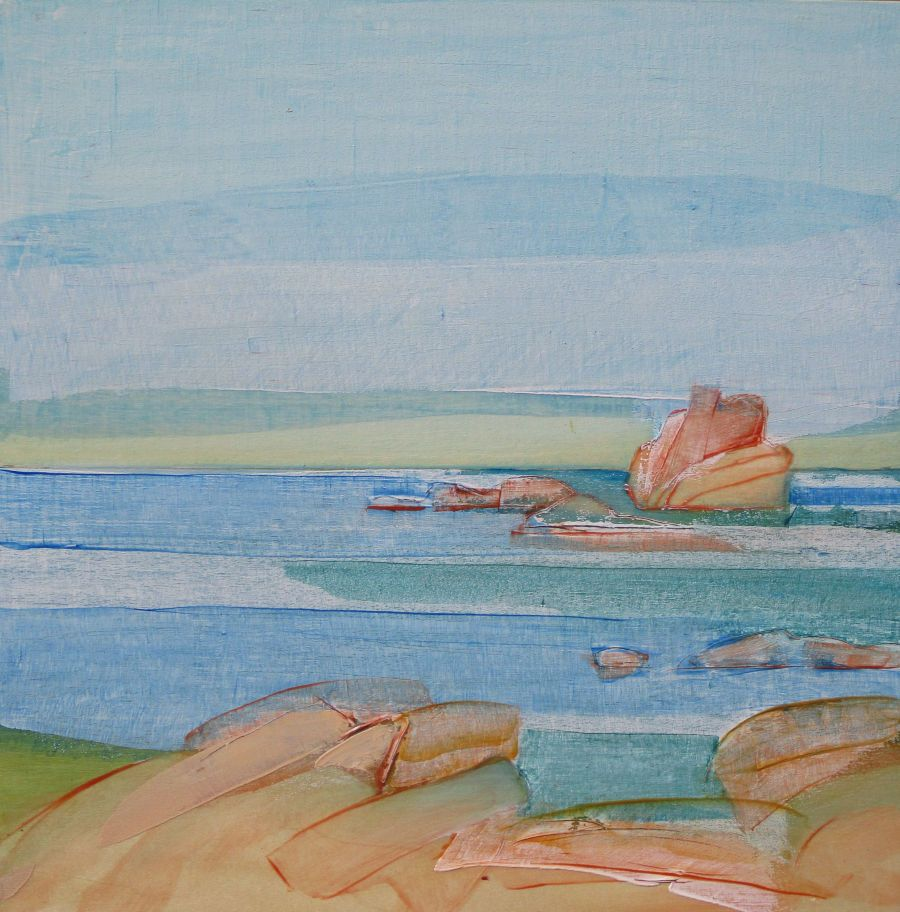 Baie di Rondinara, huile sur bois, 30x30
