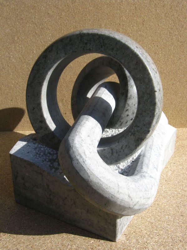 Alliage impur I, Marbre gris /bleuté de Savoie, 30x20x18