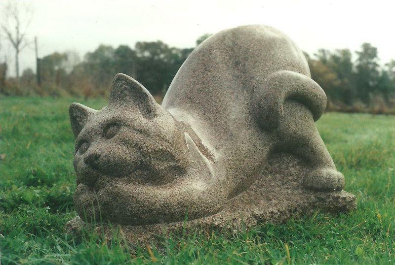 Chat, granit, 85x45x50
